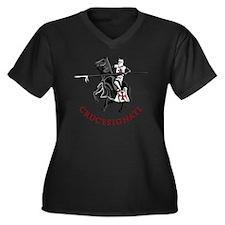 10-crusader  Women's Plus Size Dark V-Neck T-Shirt