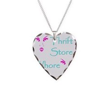 thrift store whore 10x10 Necklace