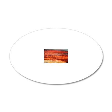 skyfire 20x12 Oval Wall Decal