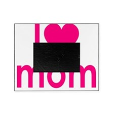 I Heart hot pink mom Picture Frame