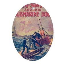 Tom Swift and his Submarine Boat Oval Ornament