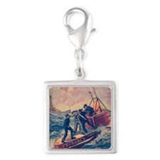 Tom Swift and his Submarine B Silver Square Charm