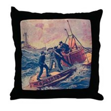 Tom Swift and his Submarine Boat 2 Throw Pillow
