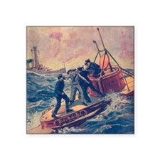 "Tom Swift and his Submarine Square Sticker 3"" x 3"""