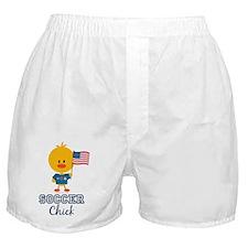 6-SoccerUSAChick Boxer Shorts