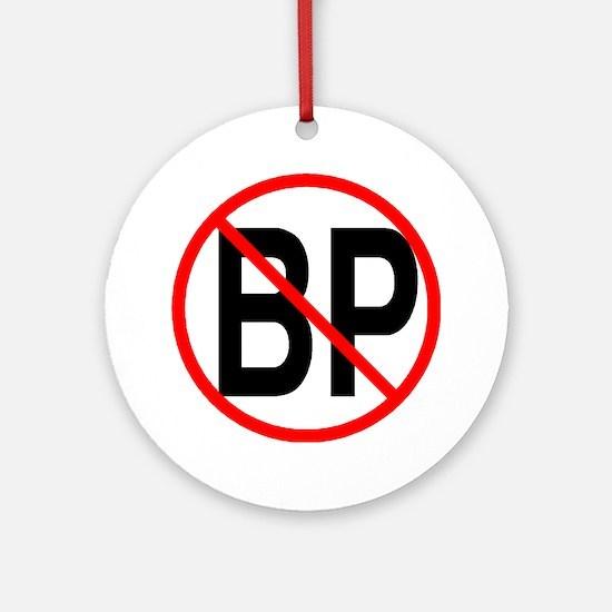 no bp1 Round Ornament