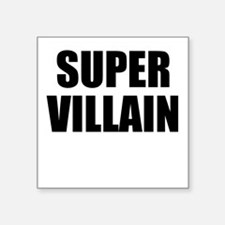 "Super Villain W Square Sticker 3"" x 3"""