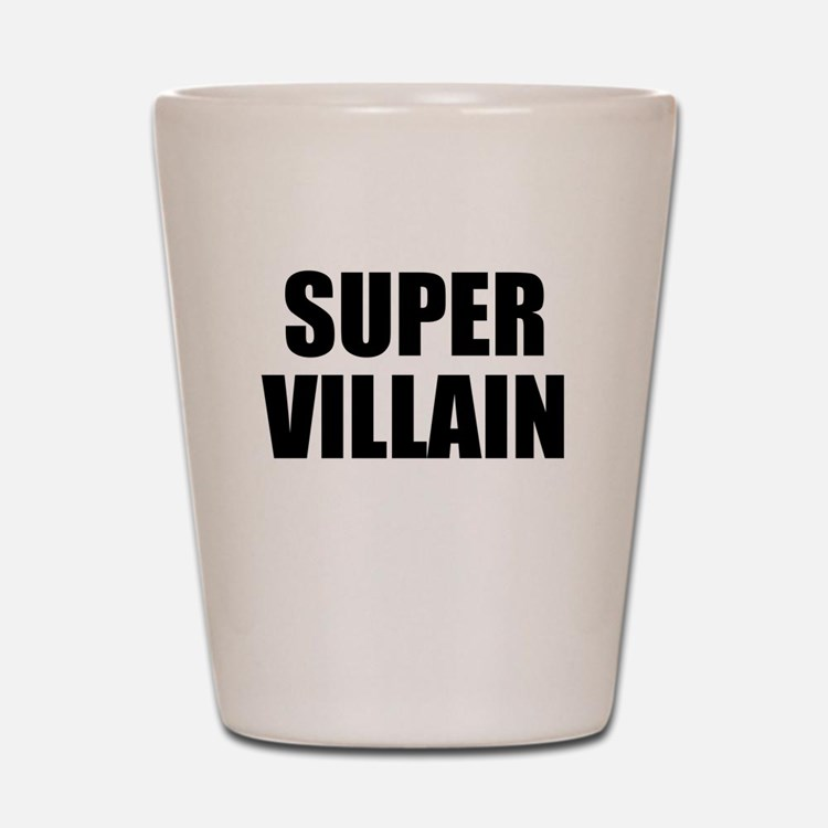 Super Villain W Shot Glass