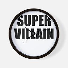 Super Villain W Wall Clock