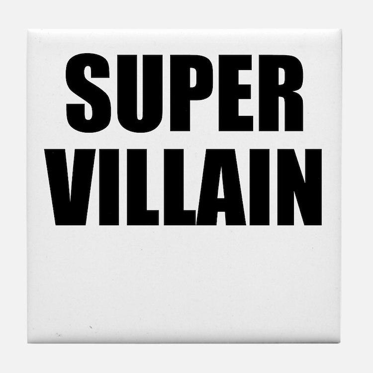 Super Villain W Tile Coaster
