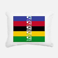 worldstripesmousepad Rectangular Canvas Pillow
