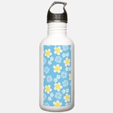 Hibiscus Blue Pattern Water Bottle