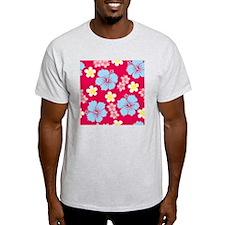 Hibiscus Pattern T-Shirt