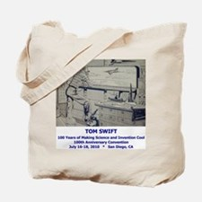TS Jr endpaper lab with text Tote Bag