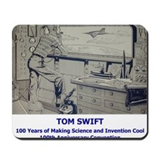 TS Jr endpaper lab with text Mousepad