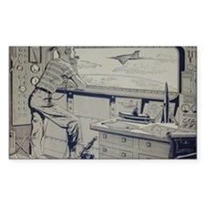 Tom Swift endpapers Decal