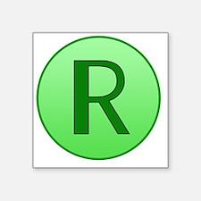 "shrinking ray Square Sticker 3"" x 3"""
