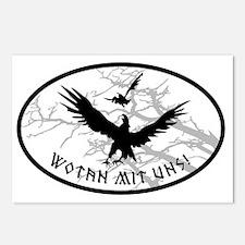 ravens no bg Postcards (Package of 8)