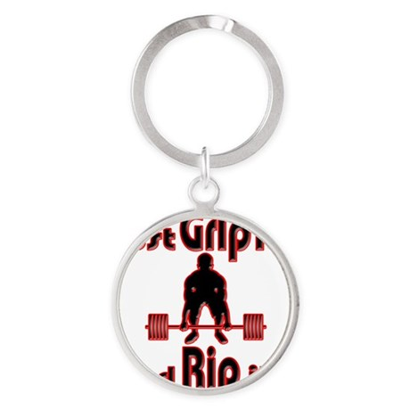 Grip and Rip it Round Keychain