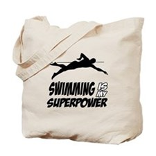 swimming is my superpower Tote Bag