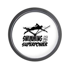 swimming is my superpower Wall Clock