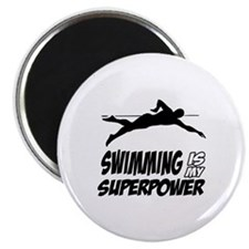 "swimming is my superpower 2.25"" Magnet (10 pack)"