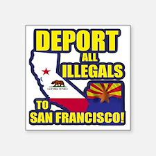 "deport_cp_shirt_lt Square Sticker 3"" x 3"""