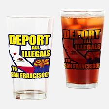 deport_cp_shirt_lt Drinking Glass
