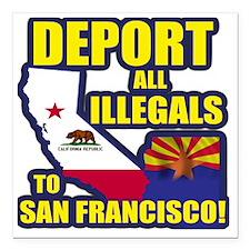 "deport_cp_shirt_lt Square Car Magnet 3"" x 3"""