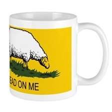 3-tread_on_me_sheep_yellow Mug