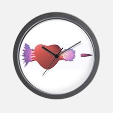 'Busted Heart' Wall Clock