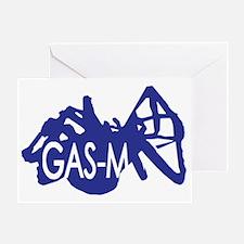 Gas-M Greeting Card