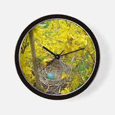 robins-nest Wall Clock