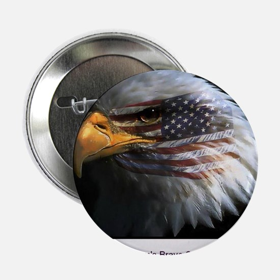 "2-eagle with text 2.25"" Button"