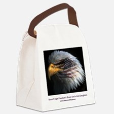 2-eagle with text Canvas Lunch Bag