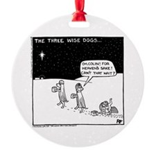 Three Wise Dogs Ornament