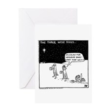 Three Wise Dogs Greeting Card