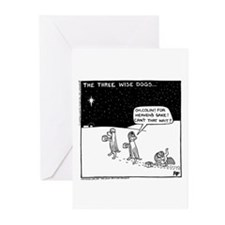 Three Wise Dogs Greeting Cards (Pk of 20)