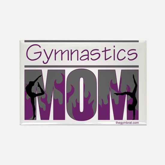 2-Gymnastics_Mom_Ver3 Rectangle Magnet
