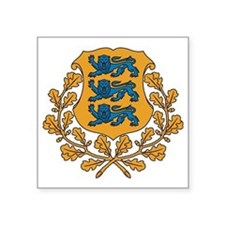 "Coat of arms of Estonia Square Sticker 3"" x 3"""