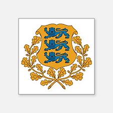"Coat of arms of Estonia Square Sticker 3"" x 3"""