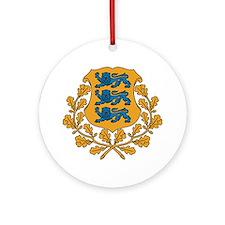 Coat of arms of Estonia Round Ornament