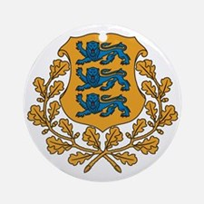 Coat of arms of Estonia Round Ornament