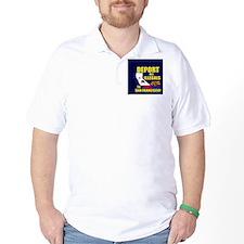 deport_button_cp T-Shirt