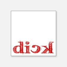 """dick_white.gif Square Sticker 3"""" x 3"""""""