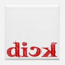 dick_white.gif Tile Coaster