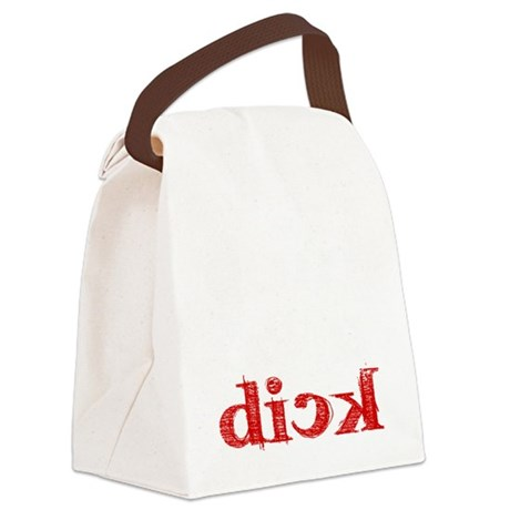 dick_white.gif Canvas Lunch Bag