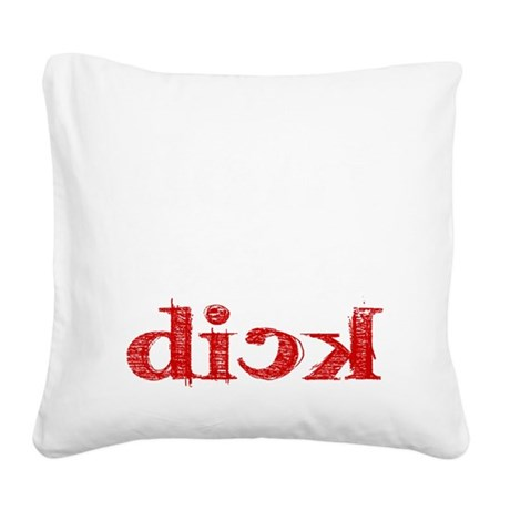 dick_white.gif Square Canvas Pillow