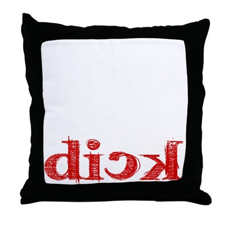 dick_white.gif Throw Pillow