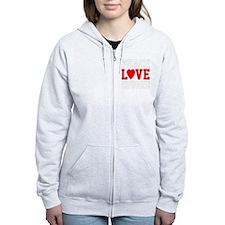 Peace Love Ed -dk Zip Hoodie